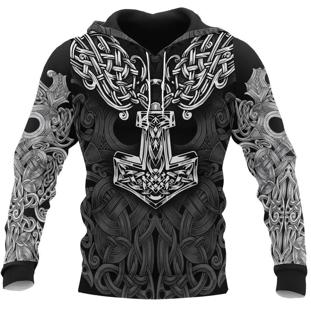 viking mjolnir odin all over printed shirt 1