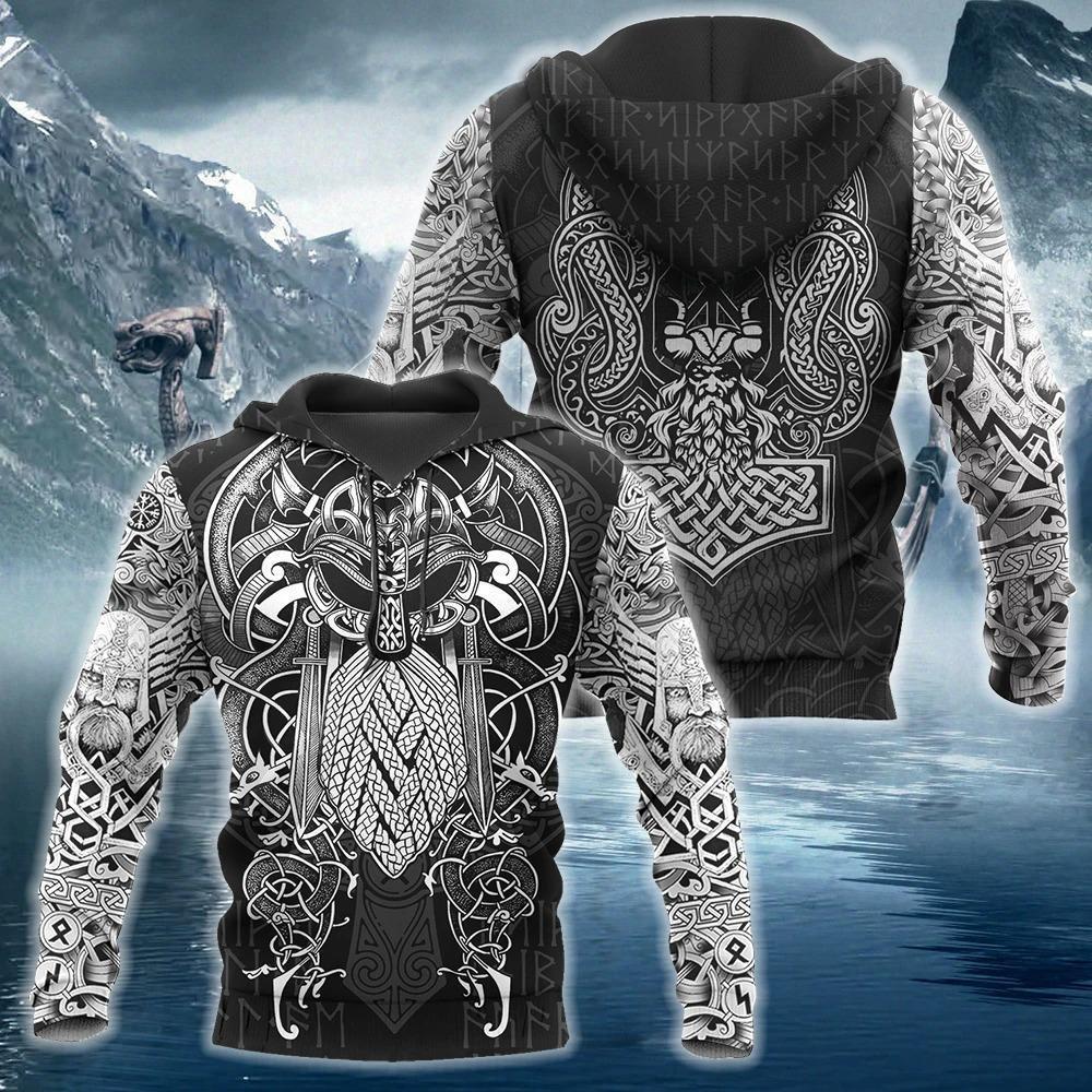 viking odin valhalla all over printed shirt 1