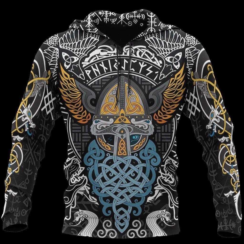 viking odin wotan tattoo all over printed shirt 1