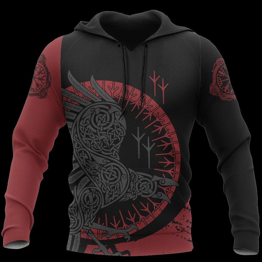 viking raven all over printed shirt 1