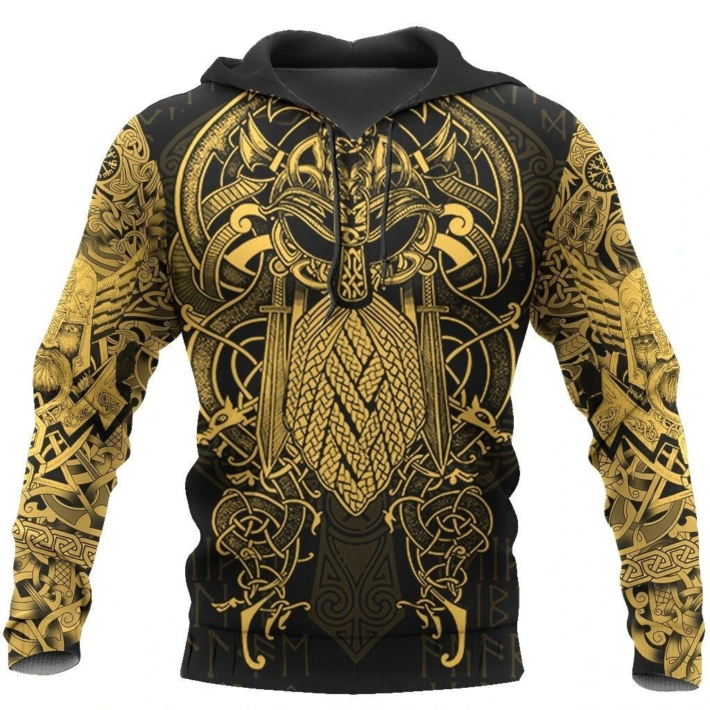 viking the raven yellow of odin tattoo all over printed shirt 1