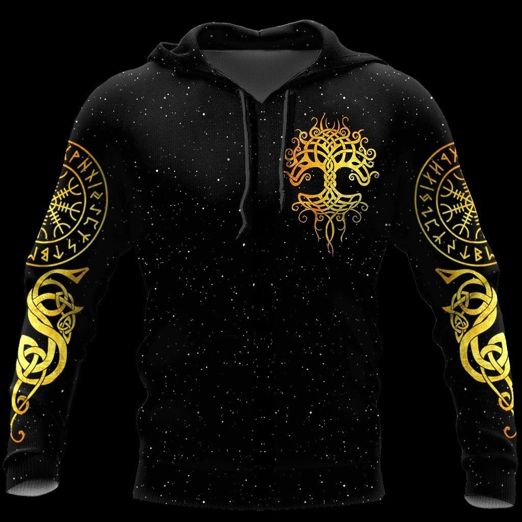 viking tree of life all over printed shirt 1