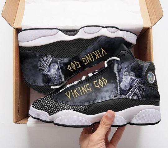 vikings odin God all over print air jordan 13 sneakers 1