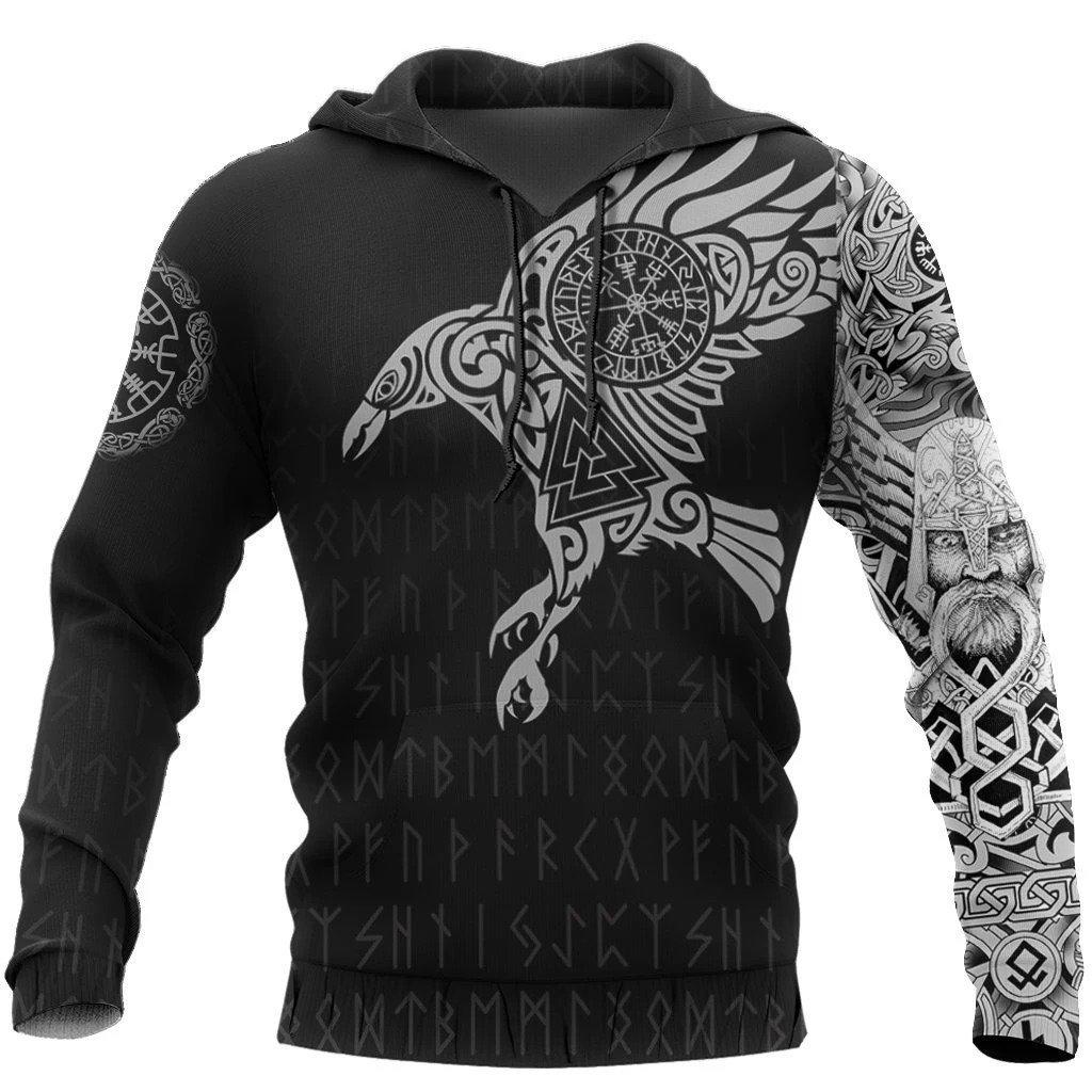 vikings the raven of odin tattoo full printing shirt 1