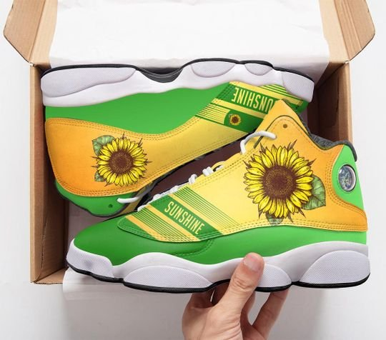 vintage sunflower all over printed air jordan 13 sneakers 1