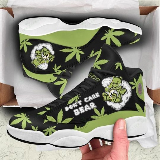 weed leaf dont care bear all over printed air jordan 13 sneakers 1