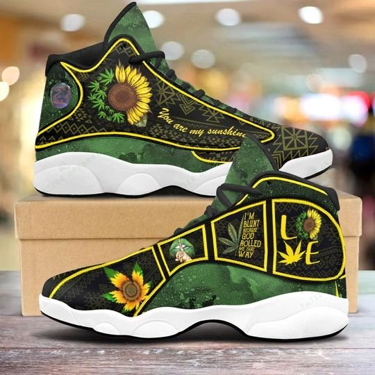 weed leaf you are my sunshine sunflower air jordan 13 sneakers 1