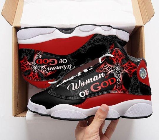 woman of God all over print air jordan 13 sneakers 1