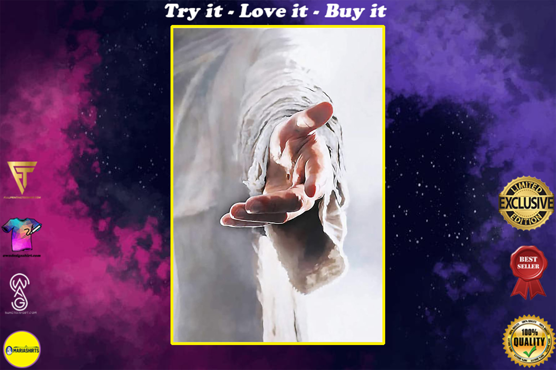 God give me your hand poster