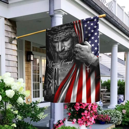 God never forget 911 american flag all over print flag 2