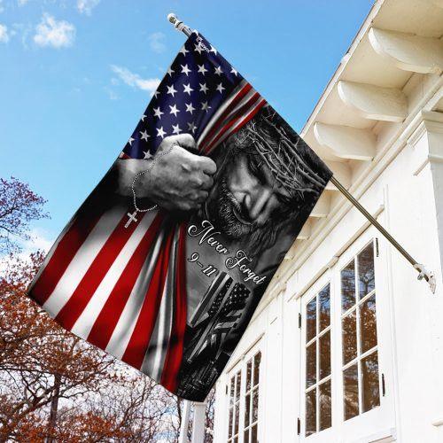 God never forget 911 american flag all over print flag 3