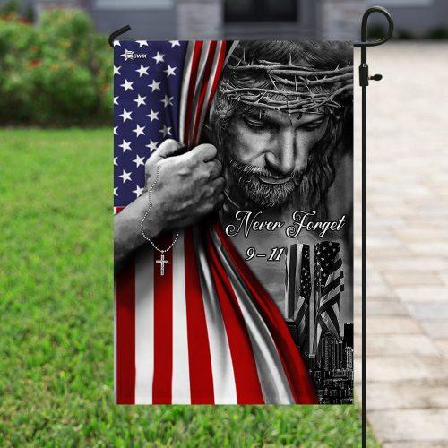 God never forget 911 american flag all over print flag 4