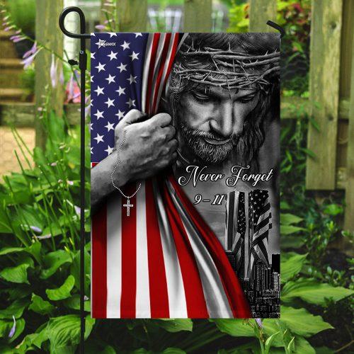 God never forget 911 american flag all over print flag 5