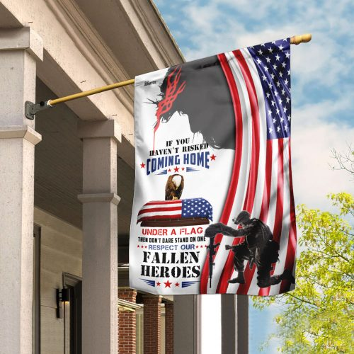 God respect to our fallen fallen heroes all over print flag 2