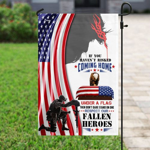 God respect to our fallen fallen heroes all over print flag 4