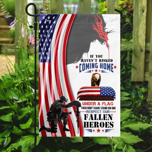 God respect to our fallen fallen heroes all over print flag 5