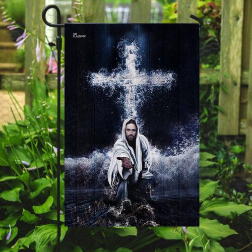 Jesus saves us all over print flag 3