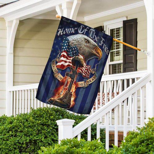 american eagle patriot veteran all over print flag 4