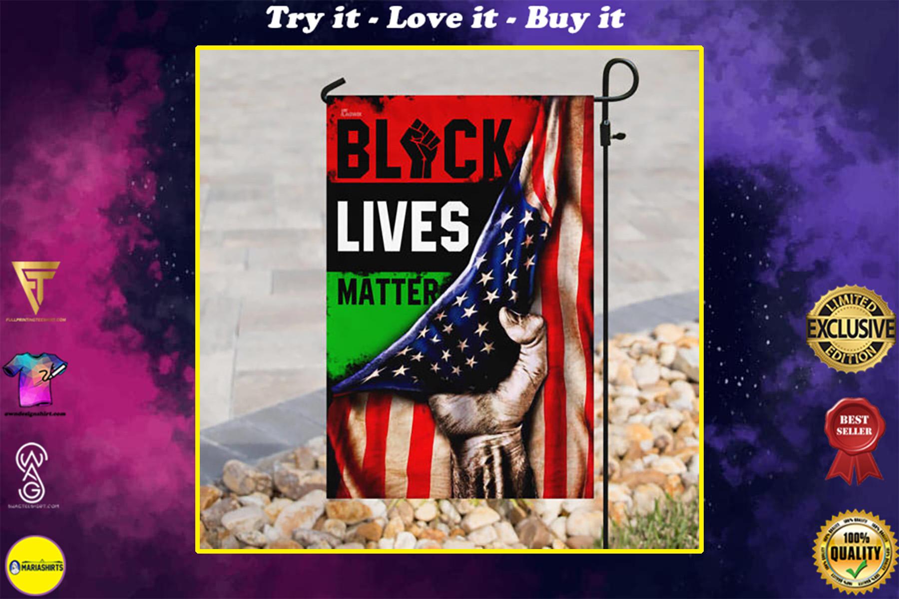 american flag black lives matter all over print flag