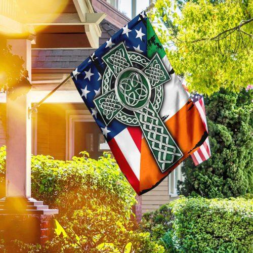 american flag celtic cross irish saint patricks day all over printed flag 2