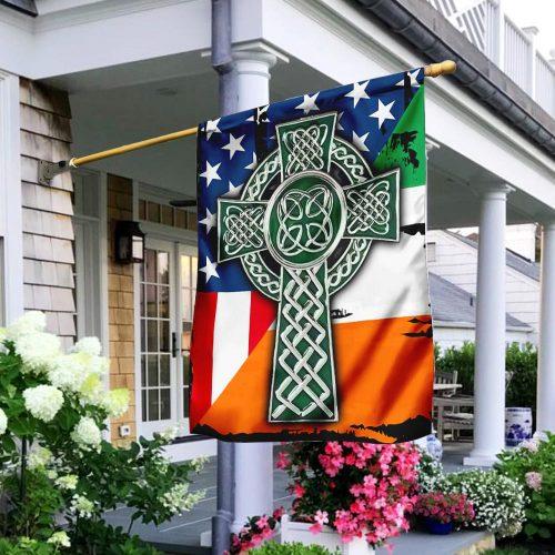 american flag celtic cross irish saint patricks day all over printed flag 3