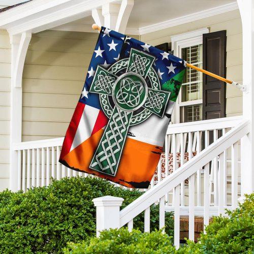 american flag celtic cross irish saint patricks day all over printed flag 4