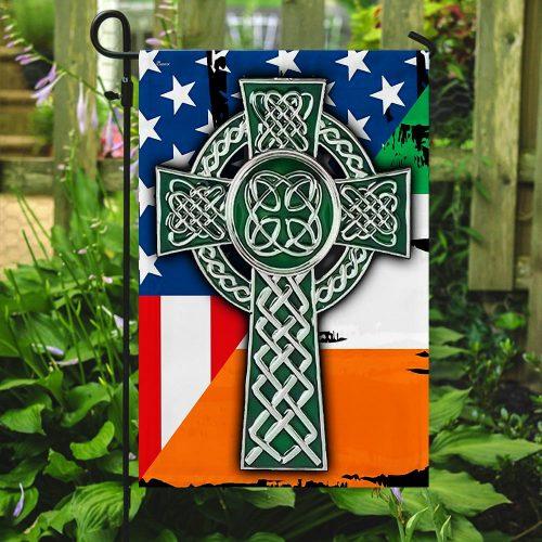 american flag celtic cross irish saint patricks day all over printed flag 5