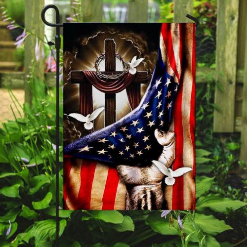 american flag christian cross flag all over print flag 2