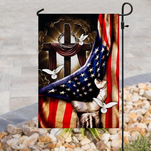 american flag christian cross flag all over print flag 3