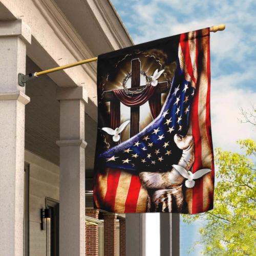 american flag christian cross flag all over print flag 4