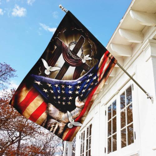 american flag christian cross flag all over print flag 5