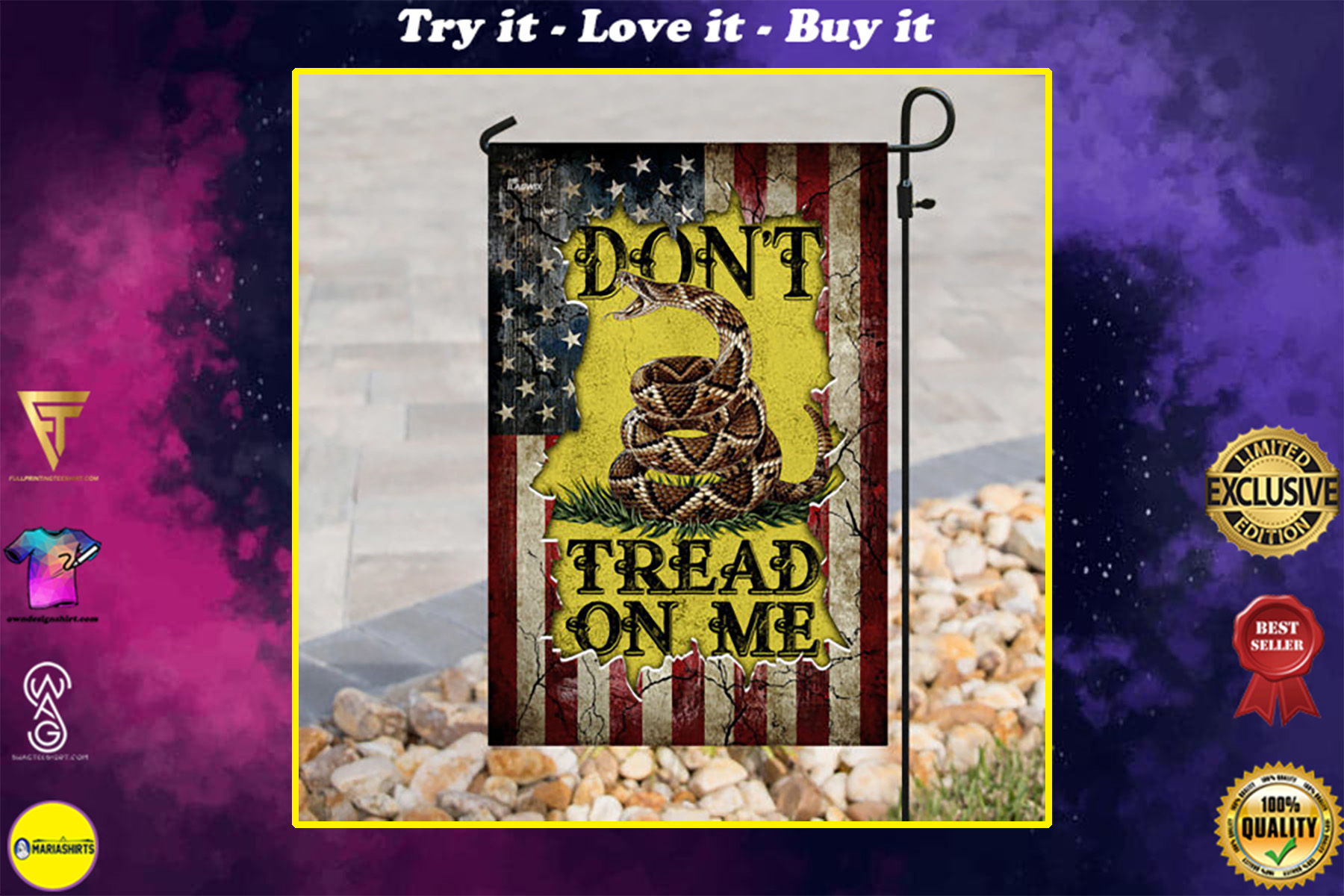 american flag dont tread on me all over print flag