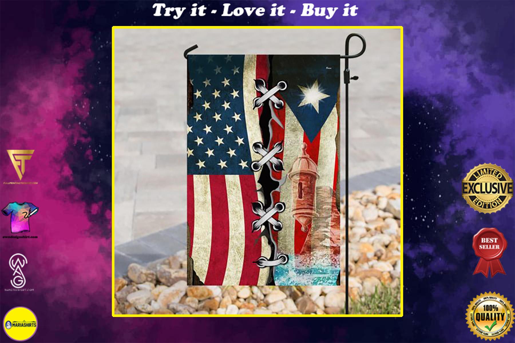 american flag puerto rico flag all over print flag