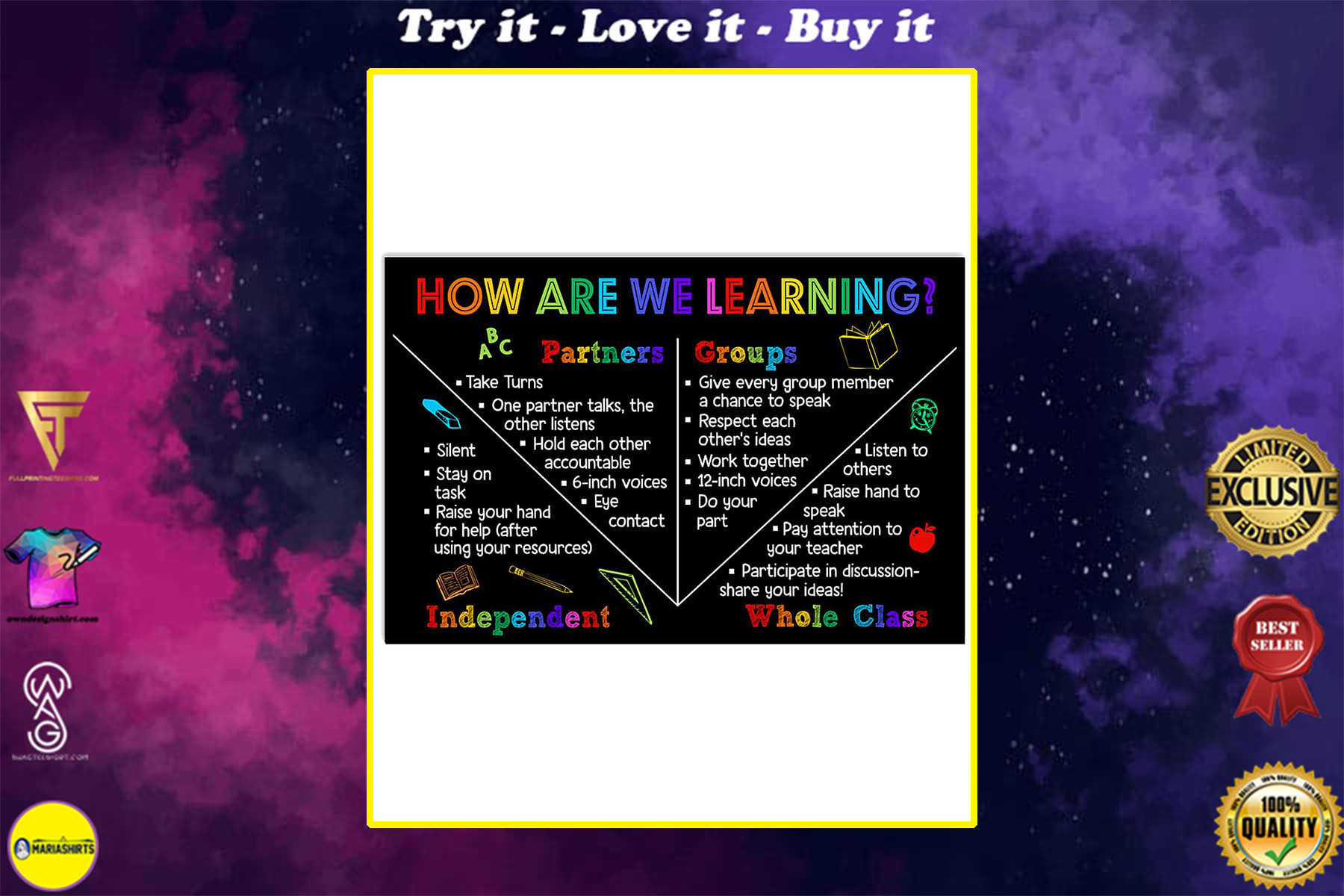 back to school teacher how are we learning poster