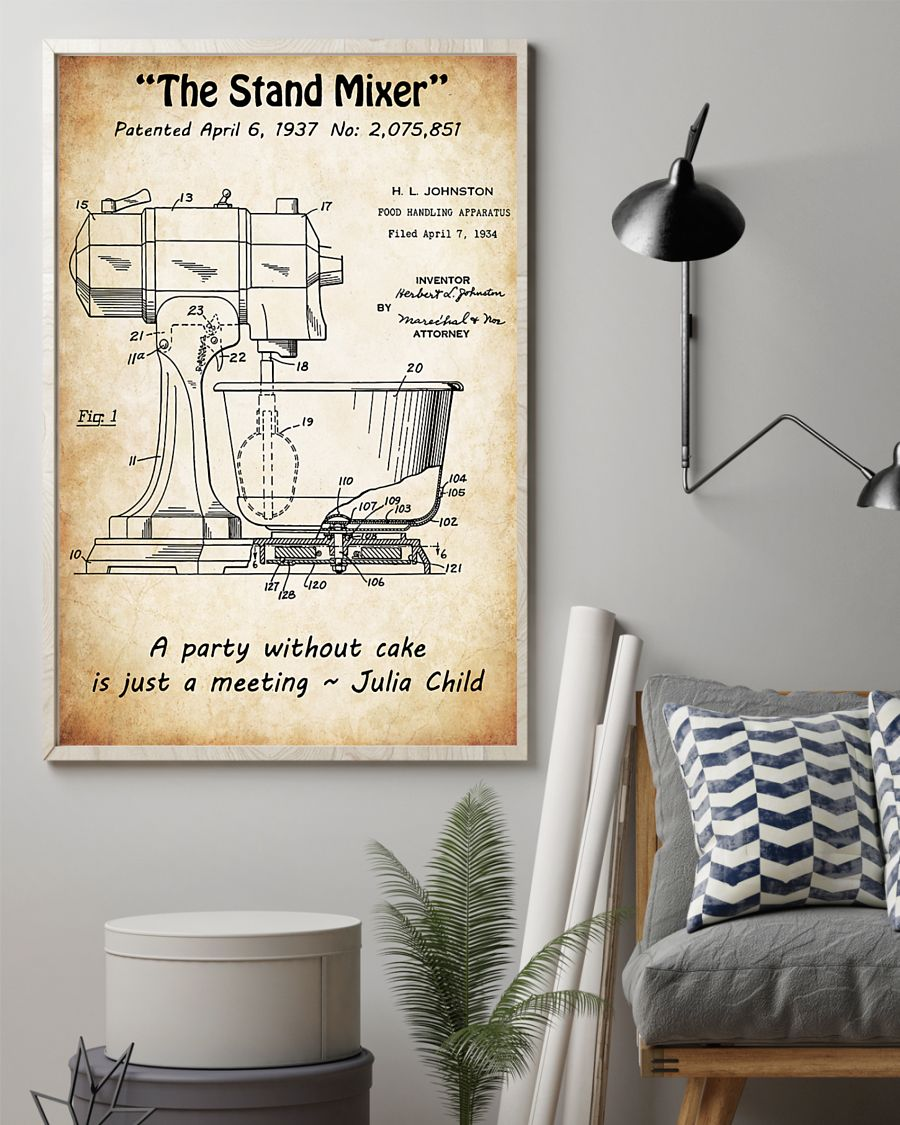 baking the stand mixer vintage poster 3