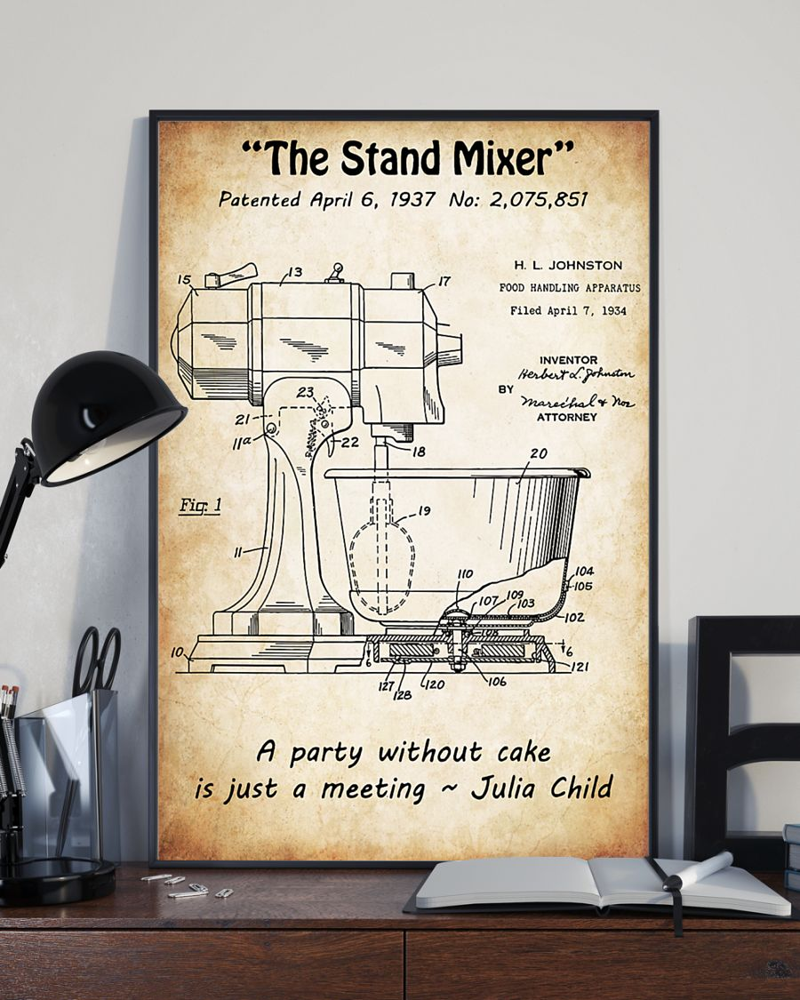baking the stand mixer vintage poster 4