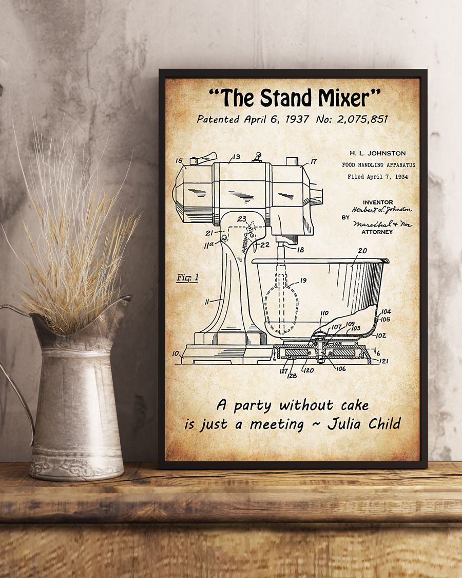 baking the stand mixer vintage poster 5
