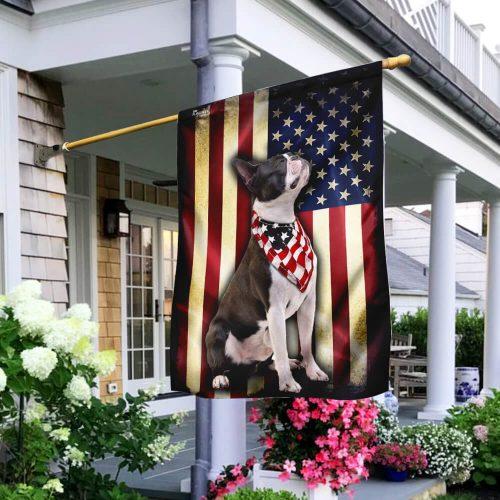 boston terrier american flag all over print flag 2