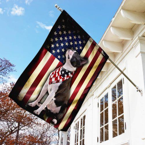 boston terrier american flag all over print flag 3