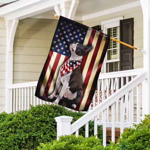 boston terrier american flag all over print flag 4
