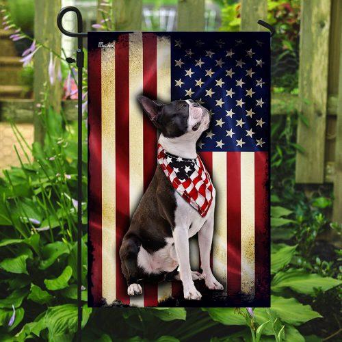 boston terrier american flag all over print flag 5