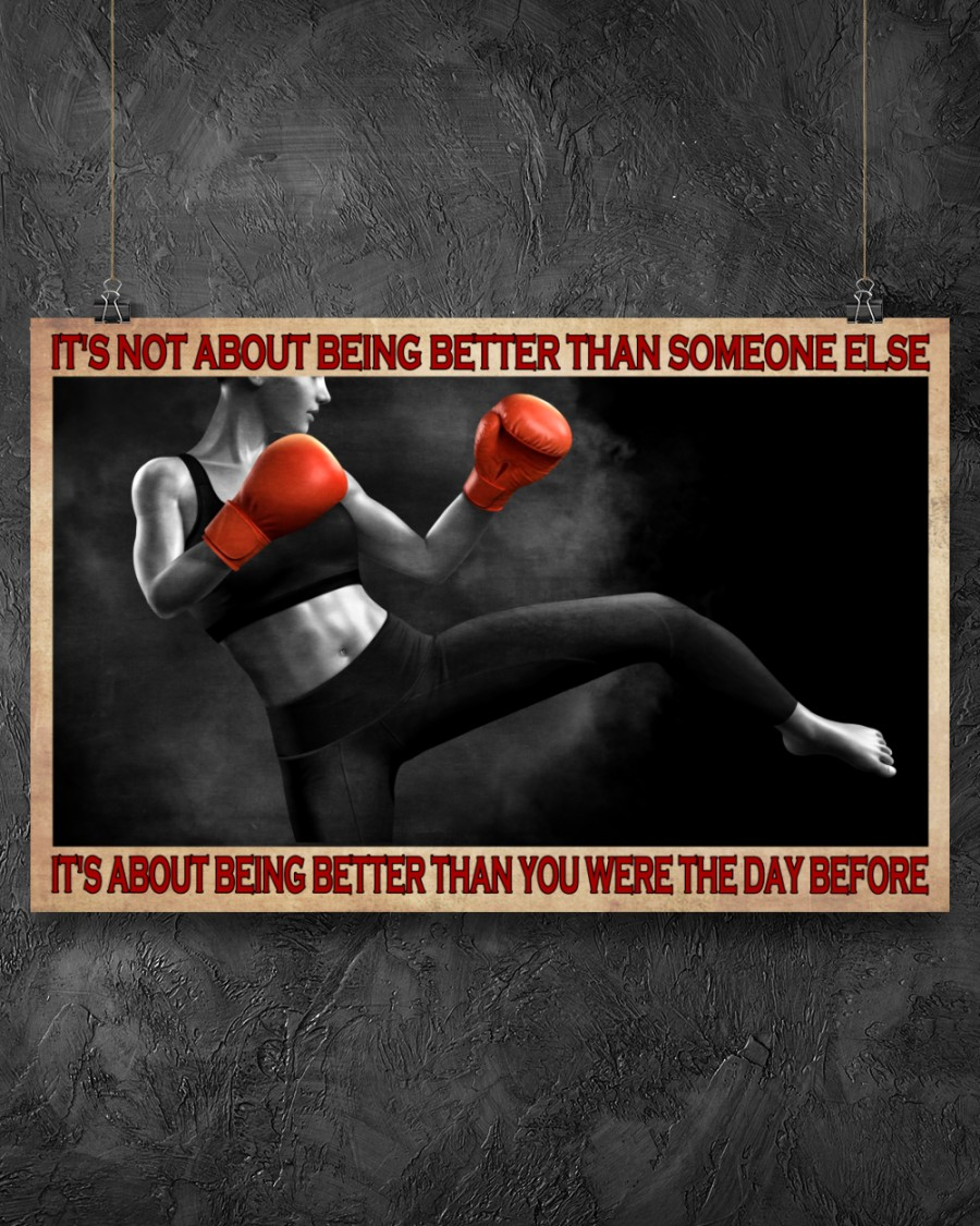boxing its is not about being better than someone else poster 3