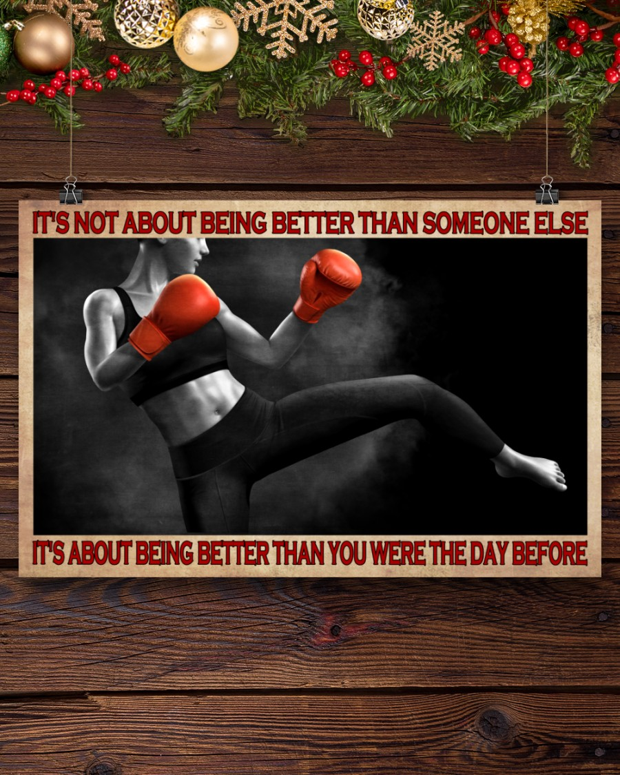 boxing its is not about being better than someone else poster 4