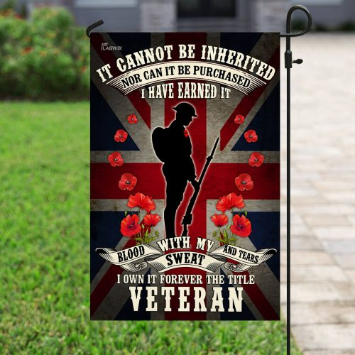british union jack remembrance day red poppy military soldier veteran all over printed flag 4