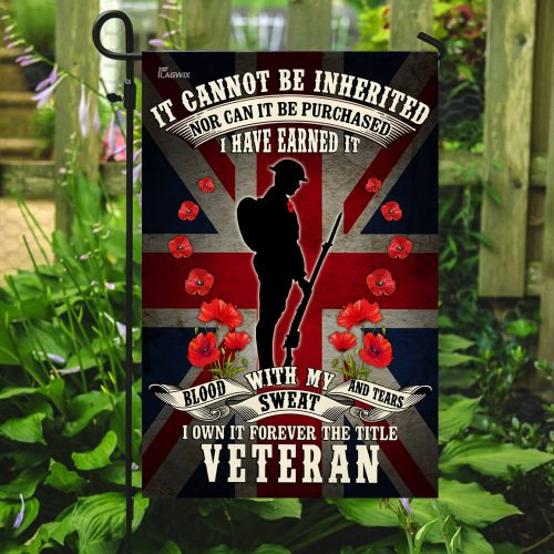 british union jack remembrance day red poppy military soldier veteran all over printed flag 5