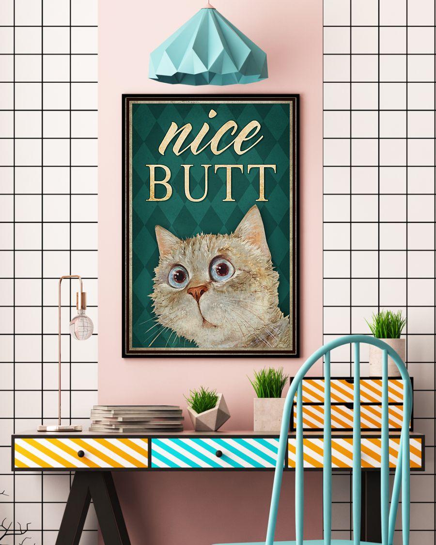 cat lover nice butt bathroom wall art poster 5