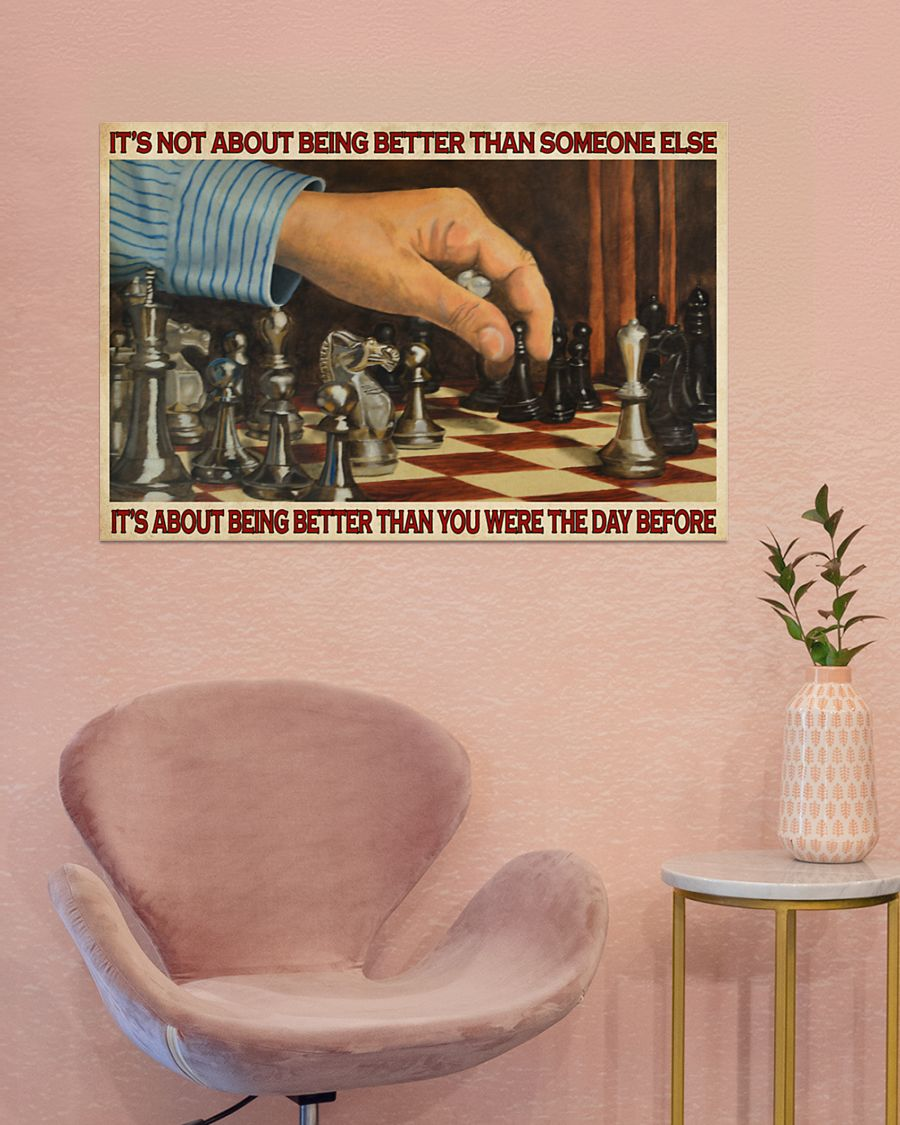 chess its is not about being better than someone else poster 2