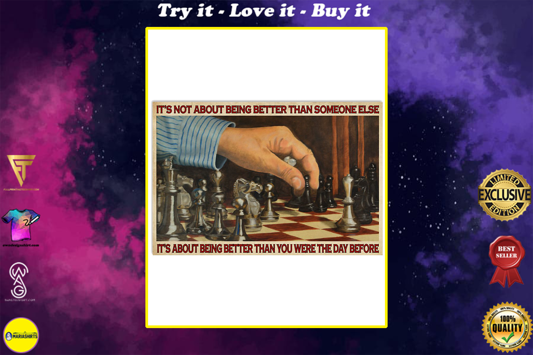 chess its is not about being better than someone else poster