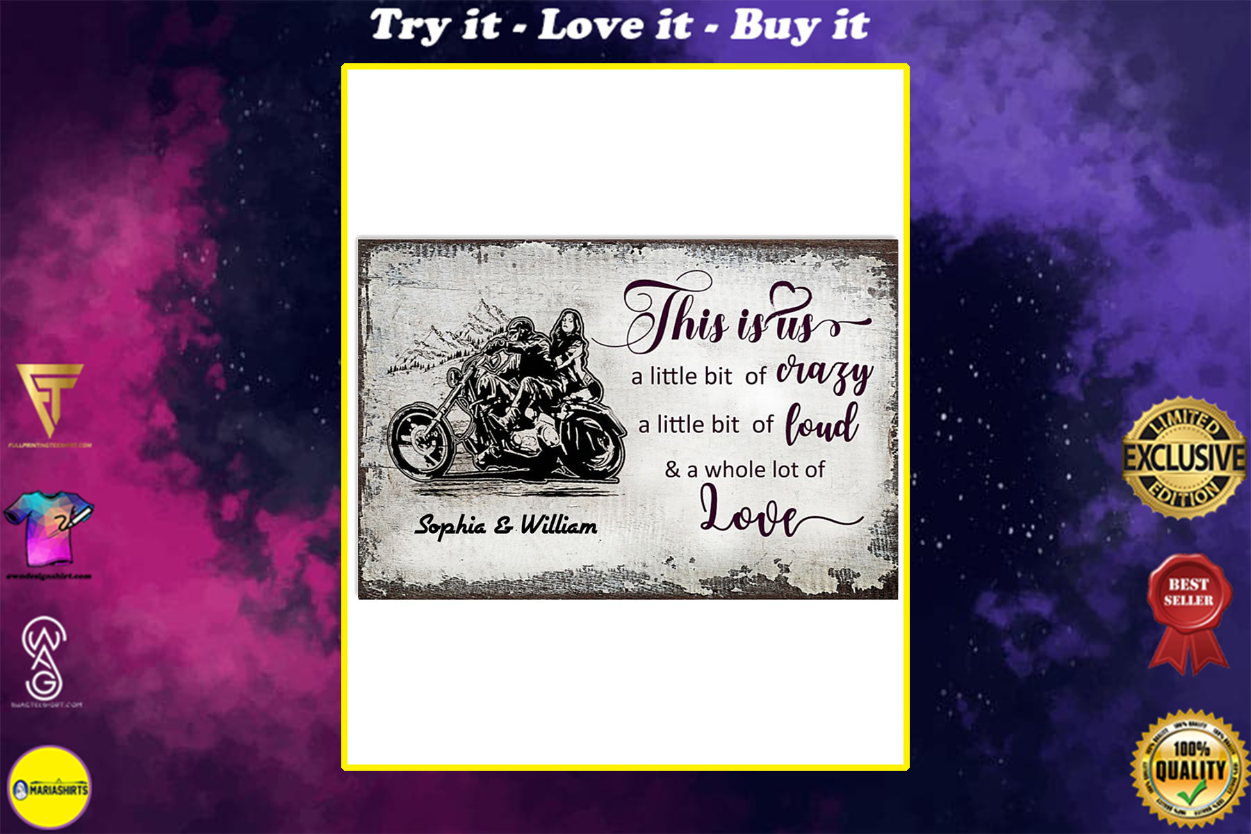 custom name this is us a little bit of crazy motorcycle couple poster