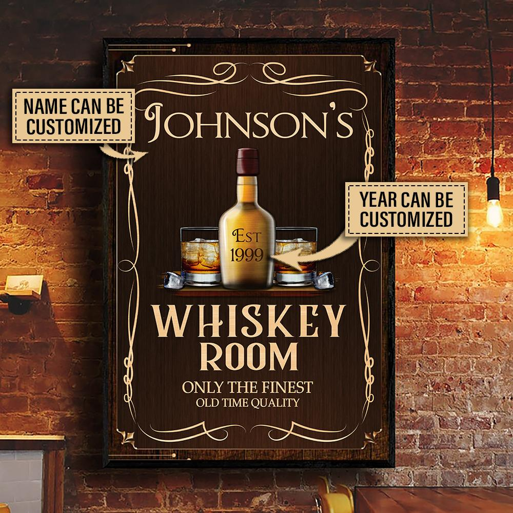 custom name whiskey room only the finest old time quality vintage poster 2